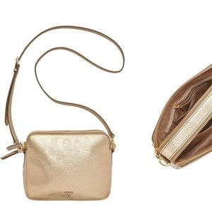 Fossil Sydney Cross-Body Handbag Metallic Gold